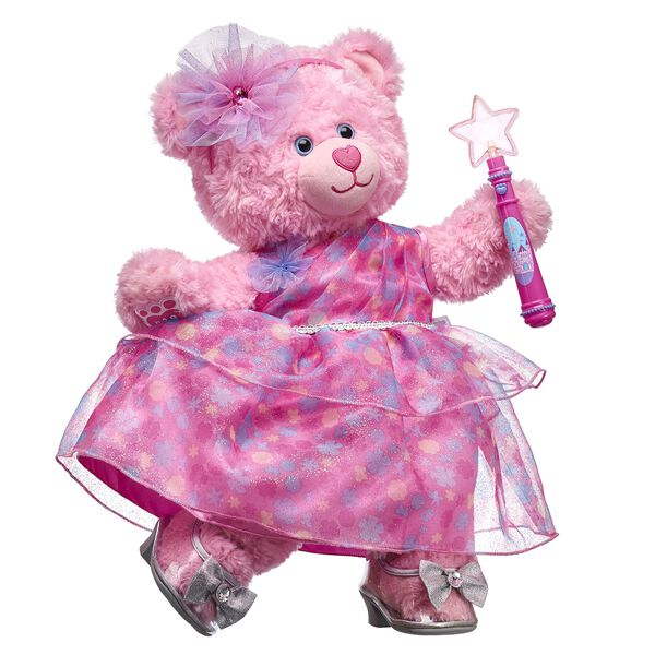 Beary Fairy Friends know that pink is the most magical color of all! This pretty-in-pink gift set features the adorable Pink Cuddles Teddy dressed in a pink outfit straight from a fairy tale!