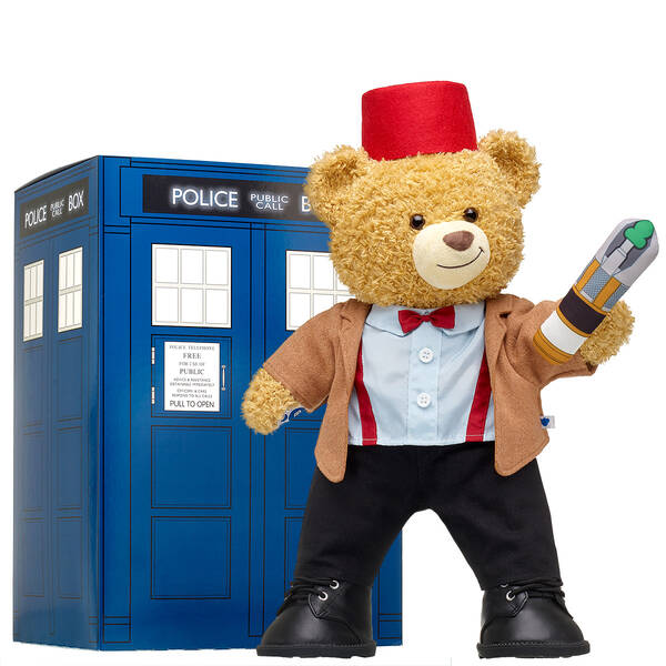 Online Exclusive Doctor Who Bear Eleventh Doctor TARDIS Gift Set, , hi-res