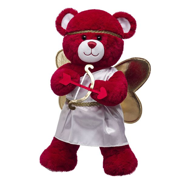 red teddy bear with hearts in cupid costume valentines day gift set
