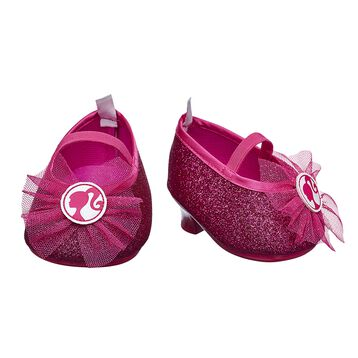 pink Barbie sparkly shoes teddy bear clothes