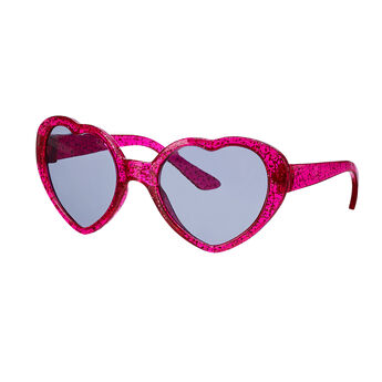 Add a bit of style and flair to your furry friend's outfit with these red heart sunglasses!