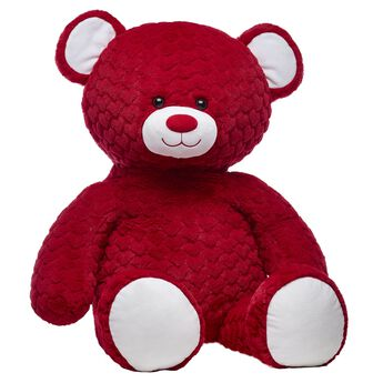 Jumbo Red Hot Red Hearts Bear, , hi-res