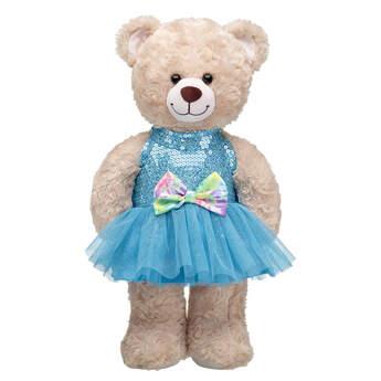 Sequin Tie-Dye Bow Dress - Build-A-Bear Workshop®