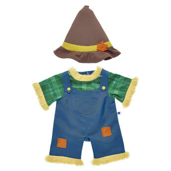 Fall into fun with this scarecrow costume for your furry friend! If you're headed to the pumpkin patch or corn maze or going on a hayride this Halloween, take your furry friend with you in this cute scarecrow costume for stuffed animals!