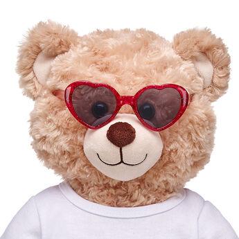 Fuchsia Heart Sunglasses, , hi-res