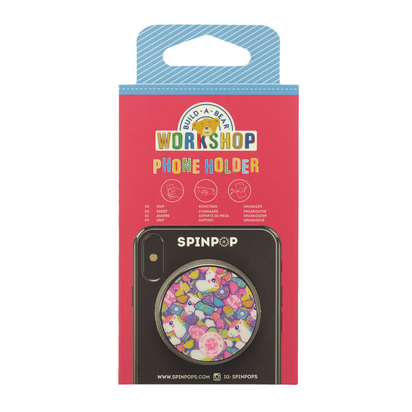 Add a bright pop of colour to your mobile phone case with this fun Spinpop phone holder. It's a BEARY fun way to grip, organise or prop up your mobile phone. This cute Spinpop holder has a colourful rainbow print and lets you have fun spinning, popping, pushing and locking it!