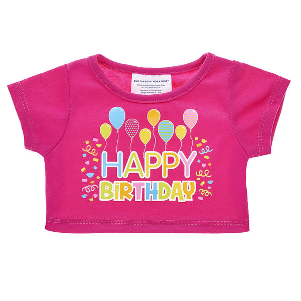 Happy birthday! Send well wishes to the birthday girl with a furry friend dressed in this celebratory birthday T-shirt.