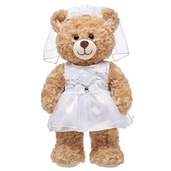 White Communion Dress & Veil Set 2 pc., , hi-res