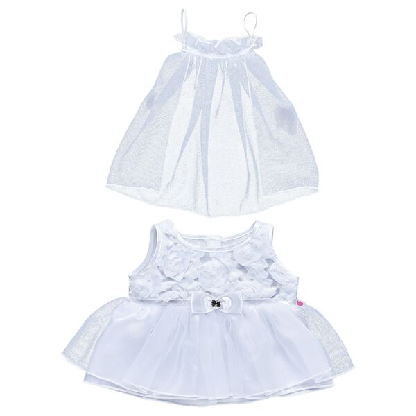 White Communion Dress & Veil Set 2 pc., , hi-res