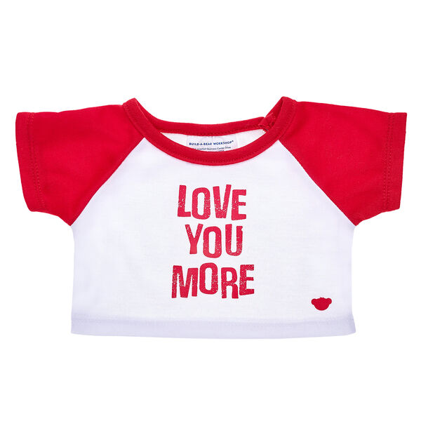 "Share your heart by letting someone special know just how much you care. This cute red and white ""Love You More"" T-shirt is an adorable way for your furry friend to do just that. Partner your furry friend's tee with a sweet scent and personalized sound message to make a gift that's as perfect as they are!"