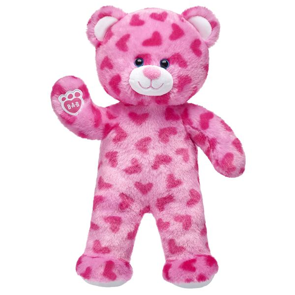 Pink Hearts Bear, , hi-res