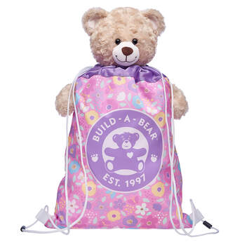 Pastel Flowers Toy Bear Carrier - Build-A-Bear Workshop®