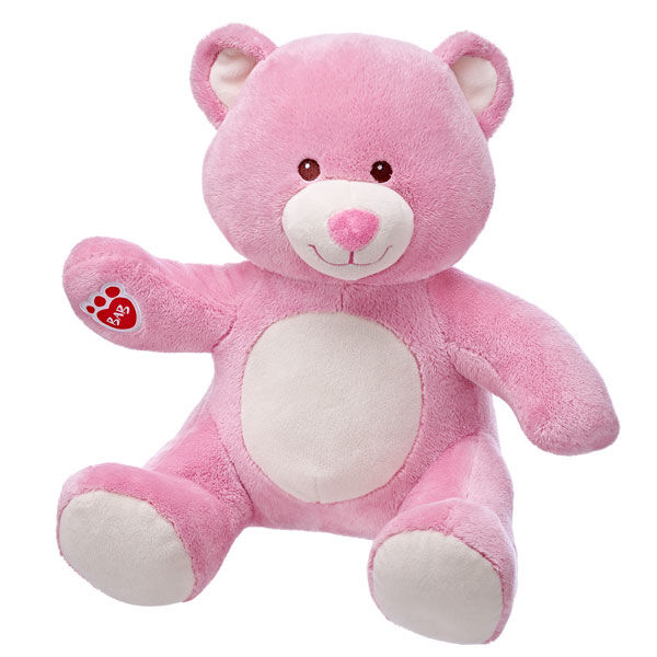 36cm Pink Velvet Hugs Teddy, , hi-res