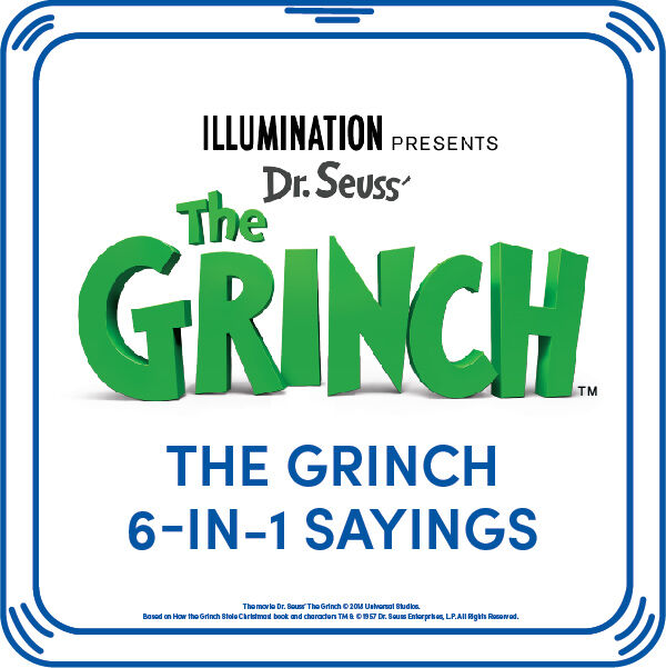 The Grinch 6-in-1 Sayings, , hi-res
