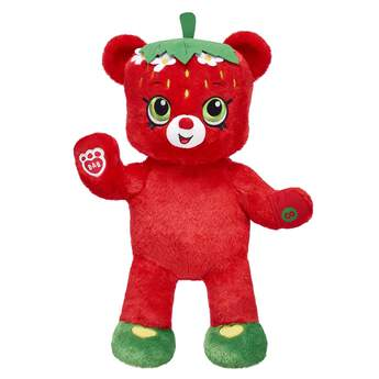 Meet Strawberry Kiss Bear! A sweet little blossom who loves to daydream, this berrylicious furry friend comes with bright red fur and a special paw pocket that can hold your favourite Shopkins. Plus, Strawberry Kiss Bear comes with a free Shopkins™ Straw Besties Figure that is exclusive to Build-A-Bear Workshop! Be sure to keep it sweet by adding Shopkins outfits and accessories. ©2017 Moose Enterprise (INT) Pty. Ltd. Shopkins™ logos, names and characters are licensed trademarks of Moose Enterprise (INT) Pty Ltd.