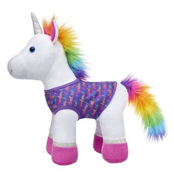 """Let your furry friend's personality shine bright with this colourful shirt! With an adorable """"Rainbow Hair Don't Care"""" pattern, this fun top is perfect for four-legged furry friends."""
