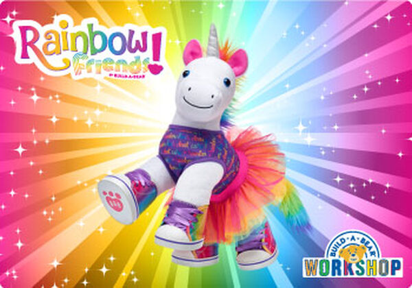 Let their imagination run wild with a gift card to Build-A-Bear Workshop! This one-of-a-kind gift card is the perfect way to colour their world with fun.
