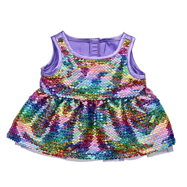 Reversible Rainbow Sequin Dress - Build-A-Bear Workshop®