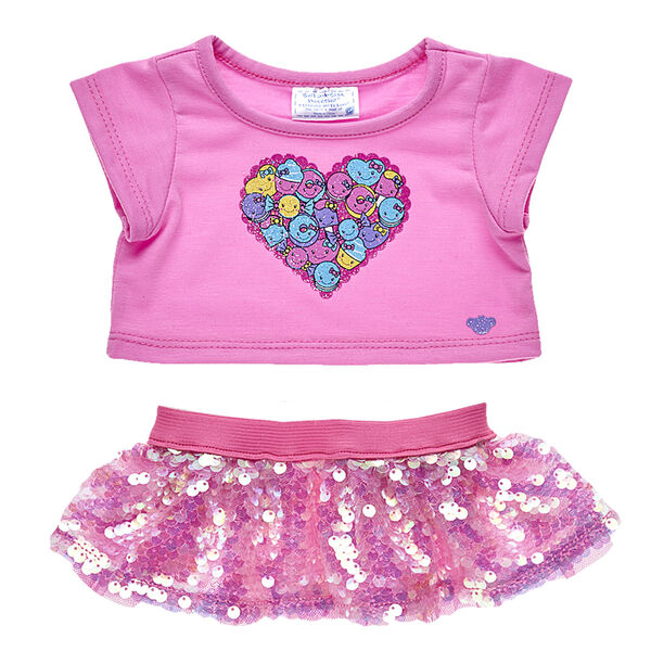 Candy Hearts Skirt Outfit 2 pc., , hi-res