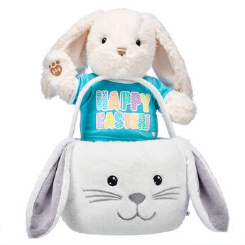 Online Exclusive Snuggly Bunny Easter Basket Gift Set, , hi-res