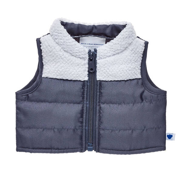 Grey Puffer Vest - Build-A-Bear Workshop®
