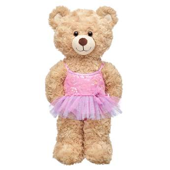 Twirl into fun with this adorable ballerina costume for stuffed animals! Outfit a furry friend online to make the perfect gift. Make your own your own stuffed animal online with our Bear Builder or visit a store near you.