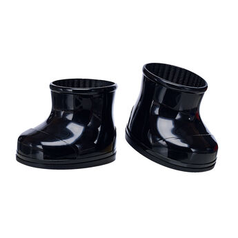 Keep your furry friend's paws warm and dry in any season with these shiny black rubber boots. This classic pair of boots pairs perfectly with any outfit and is a must-have accessory for your furry friend.