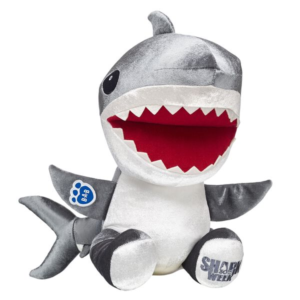 How JAWesome is the Great White Shark?! Great White Sharks are known for their wide jaws and big teeth. They can move through the water with great speed! This friendly shark plushie comes with the official Shark Week logo on its paw pad! Free shipping on orders over $45. Shop online or visit a store near you!