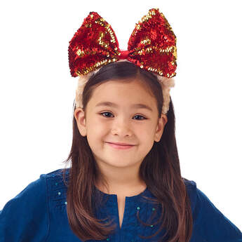 Children's Sequin Bow Bear Headband - Build-A-Bear Workshop®