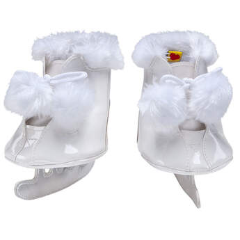 White Pom Ice Skates - Build-A-Bear Workshop®