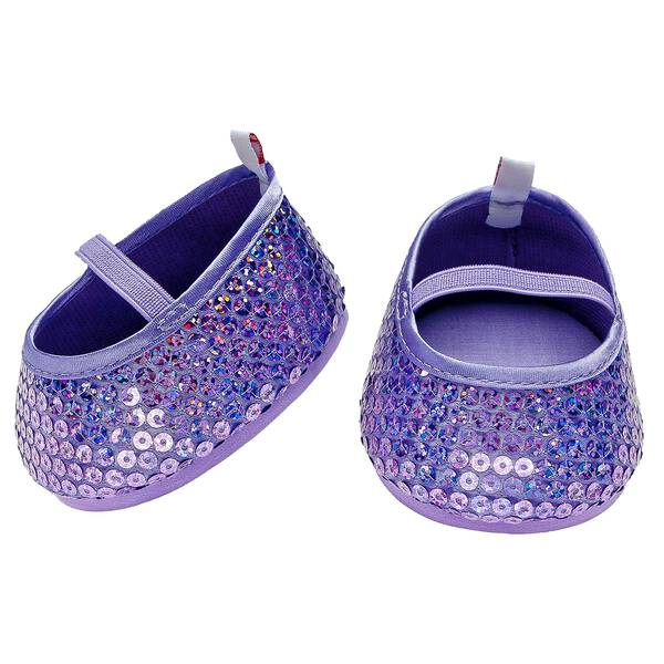 Add some sparkle to your furry friend's feet with Purple Sequin Flats.