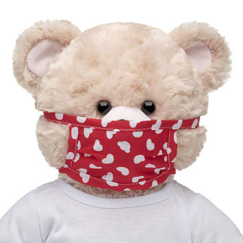 Furry Friend-Size Red Hearts Face Mask - Build-A-Bear Workshop®