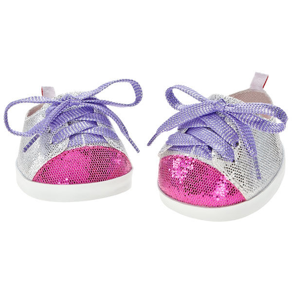 Silver & Fuchsia Sparkle Shoes, , hi-res