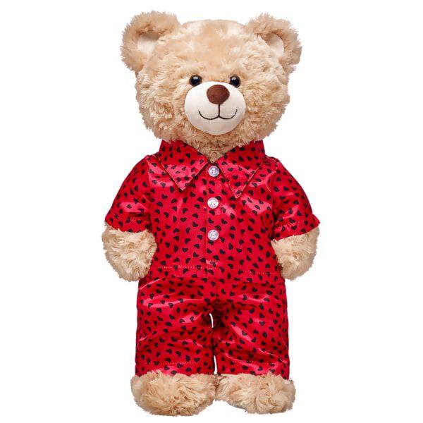 Online Exclusive Red & Black Satin Heart Pjs 2 pc., , hi-res