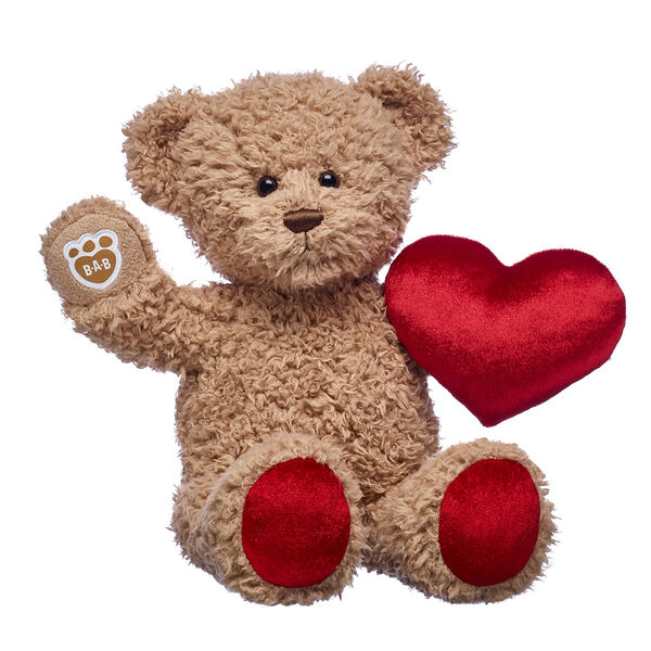 teddy bear with plush red heart valentines day gift set