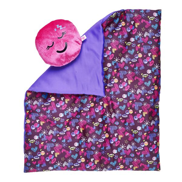 Purple Hearts & Smiles Bedding 2 pc., , hi-res