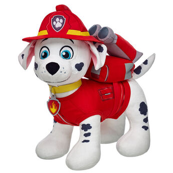 Ruff-Ruff Rescue! The PAW Patrol's Dalmatian pup is a brave firedog. He's always ready to roll, but sometimes he gets too excited and can be a little clumsy. Personalize him with clothing and accessories to make the PAWfect unique gift for any PAW Patrol recruit.© 2015 Spin Master PAW Productions Inc. All Rights Reserved. PAW Patrol and all related titles, logos and characters are trademarks of Spin Master Ltd. Nickelodeon and all related titles and logos are trademarks of Viacom International Inc. at Build-A-Bear®.