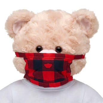 Furry Friend-Size Buffalo Check Face Mask - Build-A-Bear Workshop®
