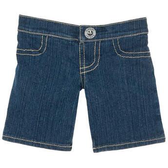 Teddy bear size denim jeans make a fashion statement.