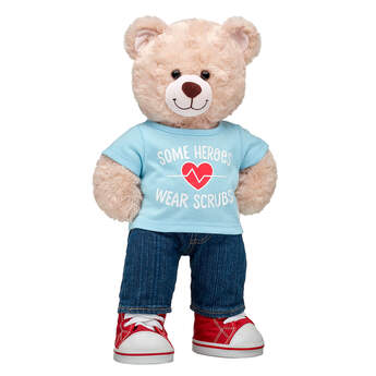 Online Exclusive Happy Hugs Teddy Scrubs Gift Set, , hi-res