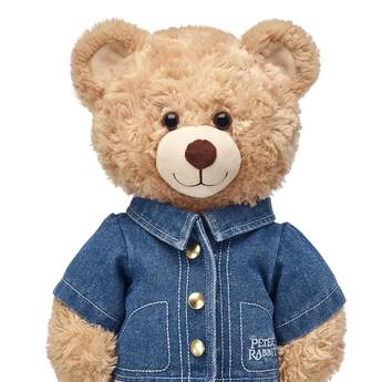 No pants, no problem! Your furry friend can hop into style by wearing Peter Rabbit's signature jean jacket. It even features the official Peter Rabbit movie logo on the left side. Peter Rabbit and all associated characters ™ & © Frederick Warne & Co Limited. Peter Rabbit™, the Movie ©2017 Columbia Pictures Industries, Inc. All Rights Reserved.