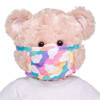 Furry Friend-Size Rainbow Bear Face Mask - Build-A-Bear Workshop®
