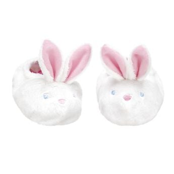 Hop to it! Keep your furry friend's paws warm in a pair of white Bunny Slippers.