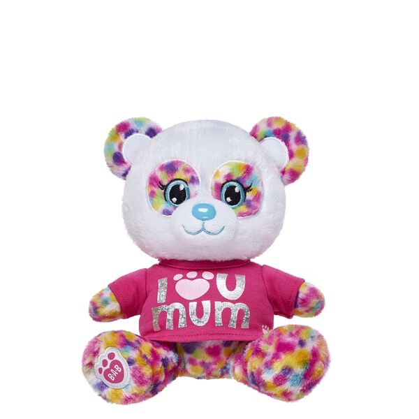 "Build-A-Bear Buddies™ ""I Luv U Mom"" Rainbow Panda Gift Set, , hi-res"