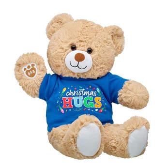 Online Exclusive Cuddly Brown Bear Christmas Hugs Gift Set, , hi-res