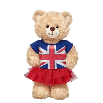 Greetings from the United Kingdom! This two-piece outfit features a Union Jack tee and a sparkly red tutu skirt. Whether your furry friend is a UK native or just visiting and exploring its many sights, this fun outfit is the PAWfect choice!