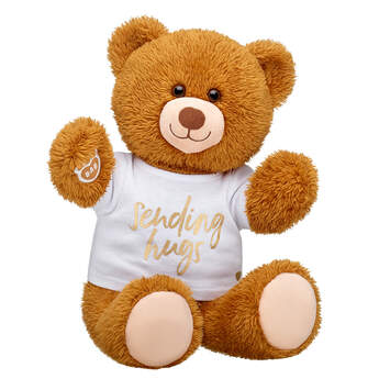 Online Exclusive Happy Brown Bear Sending Hugs Gift Set, , hi-res
