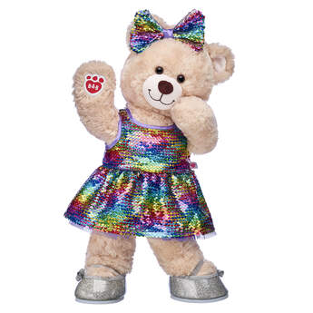 Happy Hugs Teddy Rainbow Sequin Gift Set, , hi-res