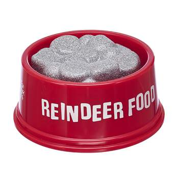Feed your reindeer furry friend so its ready to soar through the sky all season long! Your furry friend will be ready to join the Merry Mission with this red bowl of sparkly reindeer food.