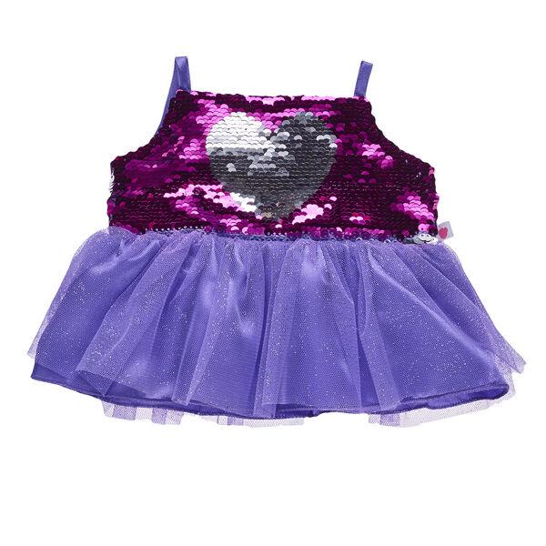 Reversible Sequin Heart Dress, , hi-res